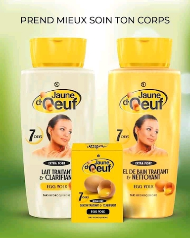 Gamme Jaune d'oeuf - Lait + Gel + Savon