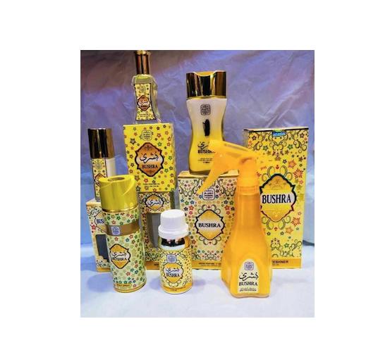 Gamme parfums et déodorants marque Bushra
